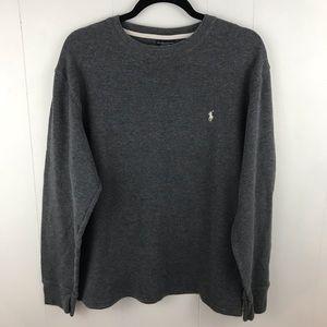 Polo by Ralph Lauren Gray Long Sleeve Shirt